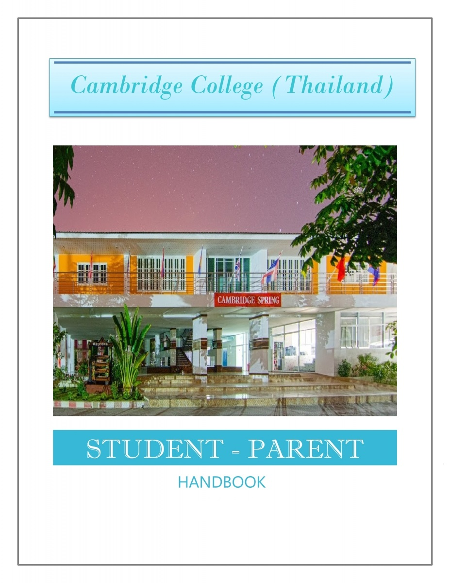 students, parents, handbook, cambridge college thailand